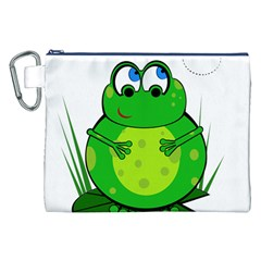 Green Frog Canvas Cosmetic Bag (XXL)