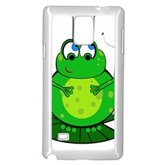 Green Frog Samsung Galaxy Note 4 Case (White)