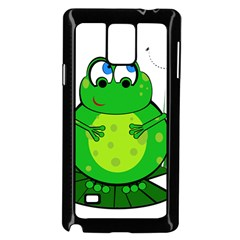 Green Frog Samsung Galaxy Note 4 Case (black)