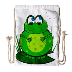 Green Frog Drawstring Bag (large)