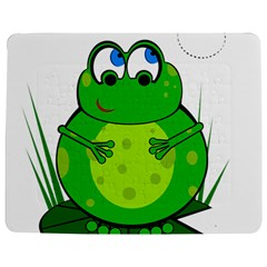 Green Frog Jigsaw Puzzle Photo Stand (rectangular)