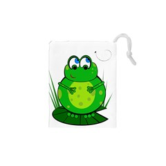Green Frog Drawstring Pouches (XS)