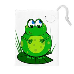 Green Frog Drawstring Pouches (extra Large)
