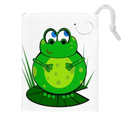 Green Frog Drawstring Pouches (XXL)