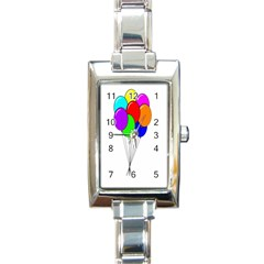 Colorful Balloons Rectangle Italian Charm Watch