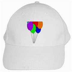 Colorful Balloons White Cap