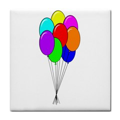 Colorful Balloons Tile Coasters