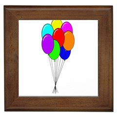 Colorful Balloons Framed Tiles