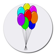 Colorful Balloons Round Mousepads