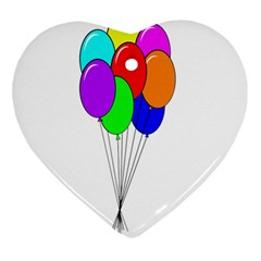 Colorful Balloons Ornament (Heart)