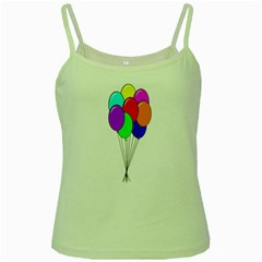 Colorful Balloons Green Spaghetti Tank