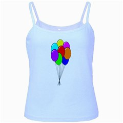 Colorful Balloons Baby Blue Spaghetti Tank