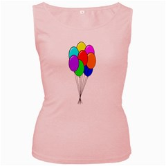 Colorful Balloons Women s Pink Tank Top