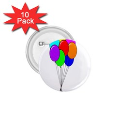 Colorful Balloons 1.75  Buttons (10 pack)