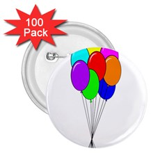 Colorful Balloons 2.25  Buttons (100 pack)