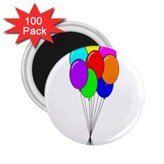 Colorful Balloons 2 25  Magnets (100 Pack)