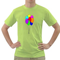 Colorful Balloons Green T-Shirt