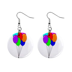 Colorful Balloons Mini Button Earrings