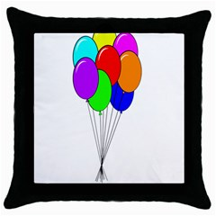 Colorful Balloons Throw Pillow Case (Black)