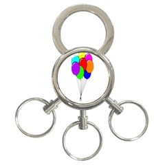 Colorful Balloons 3-Ring Key Chains