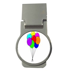 Colorful Balloons Money Clips (Round)