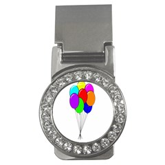 Colorful Balloons Money Clips (CZ)
