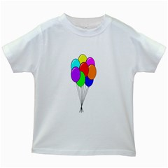 Colorful Balloons Kids White T Shirts