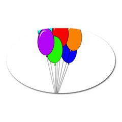 Colorful Balloons Oval Magnet