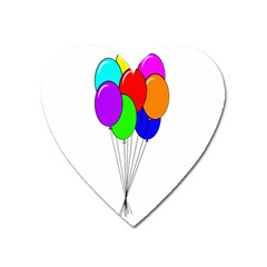 Colorful Balloons Heart Magnet