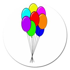 Colorful Balloons Magnet 5  (Round)