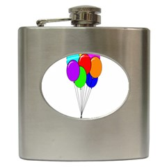 Colorful Balloons Hip Flask (6 oz)