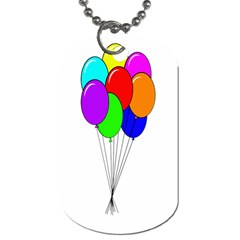 Colorful Balloons Dog Tag (Two Sides)