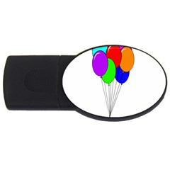 Colorful Balloons Usb Flash Drive Oval (2 Gb)