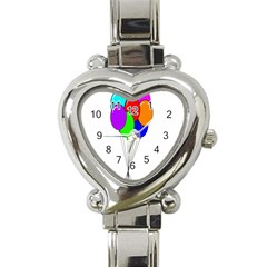 Colorful Balloons Heart Italian Charm Watch