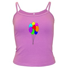 Colorful Balloons Dark Spaghetti Tank
