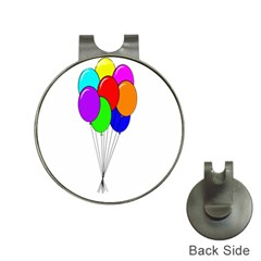 Colorful Balloons Hat Clips with Golf Markers