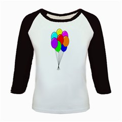 Colorful Balloons Kids Baseball Jerseys