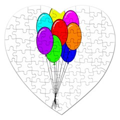 Colorful Balloons Jigsaw Puzzle (heart)