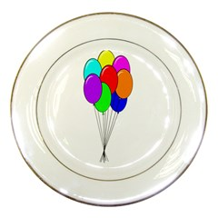 Colorful Balloons Porcelain Plates