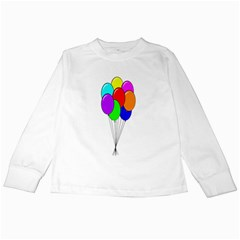 Colorful Balloons Kids Long Sleeve T Shirts