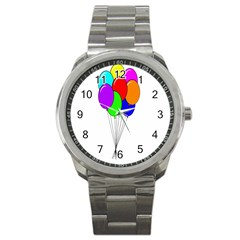 Colorful Balloons Sport Metal Watch
