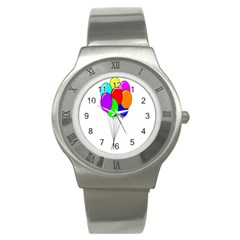 Colorful Balloons Stainless Steel Watch