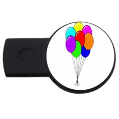 Colorful Balloons Usb Flash Drive Round (4 Gb)