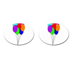 Colorful Balloons Cufflinks (Oval)
