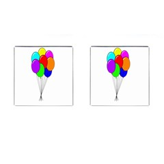 Colorful Balloons Cufflinks (Square)