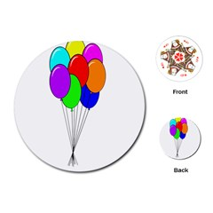 Colorful Balloons Playing Cards (Round)
