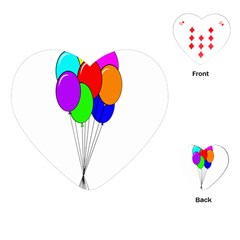 Colorful Balloons Playing Cards (Heart)