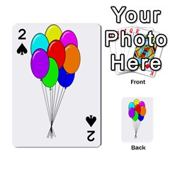 Colorful Balloons Playing Cards 54 Designs