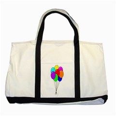 Colorful Balloons Two Tone Tote Bag