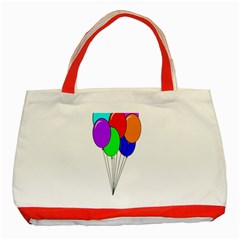 Colorful Balloons Classic Tote Bag (Red)